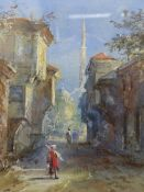 ATTRIBUTED TO CHARLOTTE VAUSER (1837-1875) CONSTANTINOPLE, WATERCOLOUR. 13 x 11cms.