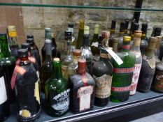COLLECTION OF VARIOUS WINES, SPIRITS AND LIQUERS.