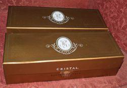 2 bottles of Louis Roederer Cristal Champagne 1997 Boxes still sealed