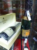 CHAMPAGNE, BOTTLE OF LANSON NOBEL CUVEE 1995 WRAPPED AND BOXED TOGETHER WITH TWO VEUVE CLIQUORT