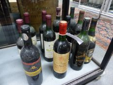 RED WINE, TWELVE MIXED BOTTLES TO INCLUDE ONE BOTTLE CHATEAU PHELAN SEGUR AND TWO BOTTLES LAY AND