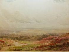 AFTER JOSEPH POWELL, HUNTERS AND SHEPHERDS ON THE MOORS. 50x 70cms. (2)