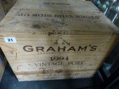 PORT, GRAHAMS 1994 VINTAGE, TWELVE BOTTLES, CASED.