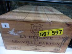 LA RESERVE DE LEOVILLE-BARTON SAINT JULIEN. CASE OF 12