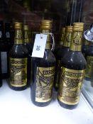 RUM, ELEVEN BOTTLES OF WOODS GOLD LABEL OLD NAVY RUM.