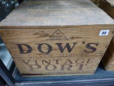 PORT, DOWS SILVER JUBILEE 1977 VINTAGE, TWELVE BOTTLES, CASED.