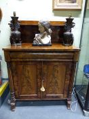 A WM.IV MAHOGANY CHIFFONIER WITH RAISED GALLERY BACK OVER FRIEZE DRAWER AND TWO DOORS. W.92 x H.