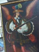 SOUTH AMERICAN SCHOOL. THE ARCHANGEL, OIL ON CANVAS. 80 x 55cms.