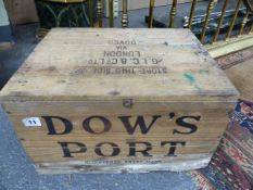PORT, TWELVE BOTTLES CASED VINTAGE PORT 1963.
