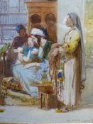 CHARLES CATTERMOLE (1832-1900) THE PARROTS AUDIENCE. SIGNED, WATERCOLOUR. 20 x 14.5cms. GALLERY