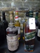 WHISKEY, IN FOUR BOTTLES TO INCLUDE CANADIAN CLUB PADDY, JOHNNY WALKER GREEN LABEL AND SIX ISLES