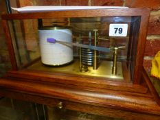 A GOOD 20th.C.MAHOGANY CASED BAROGRAPH, UNSIGNED.