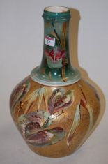 Lot 14 - A large late Victorian onion shaped vase by Thomas Forrester & Sons,