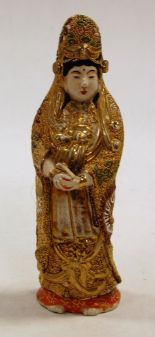 Lot 3 - A reproduction Chinese figure of a female in standing pose,