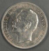 Deutsches Kaiserreich Baden 1913 G, 5.- Mark - Silbermünze. Jaeger: 40. Erhaltung: vz. German