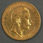 """Deutsches Kaiserreich Preußen 1889 A, 20.- Mark - Goldmünze """"Wilhelm II"""". Erhaltung: vz. German"""