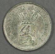 "Hessen 1865, 1 Kreuzer, ""Ludwig III."". Erhaltung: fast stgl. Hessen 1865, 1 Kreuzer, ""Ludwig III""."
