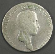"""Altdeutschland Brandenburg - Preußen 1814 A, 1 Taler """"Friedrich - Wilhelm II:"""". Erhaltung: s. Old"""