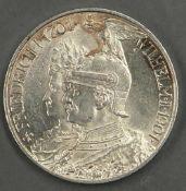 """Deutsches Kaiserreich Preußen 1901, 2.- Mark - Silbermünze """"200 Jahre Königreich"""". Jaeger: 105."""