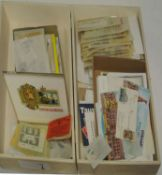 schöner Tüten und Steckkartenposten in 1 Holzschachtel, dabei viel CEPT, ältere Ware, etc. of nice