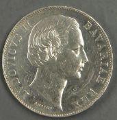 "Altdeutschland Bayern 1868, Madonnen - Taler ""Patrona Bavariae / Ludwig II."". Jaeger: 14. Erhaltung:"