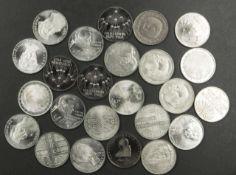 BRD, Lot von 24 x 5.- Mark - Münzen. Verschiedene Jahrgänge. Erhaltung: ss-vz. Germany, Lot of 24