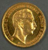 """Deutsches Kaiserreich Preußen 1913A, 20.- Mark - Goldmünze """"Wilhelm II"""". Erhaltung: vz. German"""