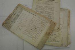 1700/1850, Sammlung mit ca. 50 alten Dokomenten, dabei Briefe, Rechnungen, etc. Bitte