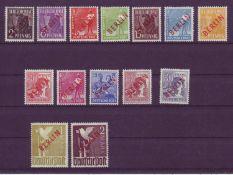 Berlin 1949, Mi .- Nr. 21 - 34 mit Rotaufdruck. Alle geprüft Schlegel. Berlin 1949, Michel no.