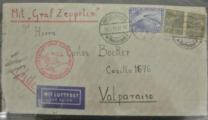 Deutsches Reich 1930, Brief wurde mit Graf Zeppelin befördert. Michel Nr. 438 y German Reich 1930,