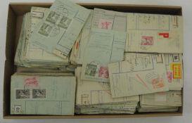 Tschechoslowakei, ab ca. 1950, Partie von ca. 720 frankierten Zahlkarten / Überweisungsabschnitten