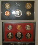 2 x USA Proof Sets, 1x 1972, sowie 1x 1981 2 x USA proof sets, 1x 1972, as well as 1x 1981