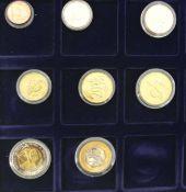 Specimen Großbritannien, Euro-Münzsatz 2003 in einer Holzbox Specimen Great Britain, Euro coin set