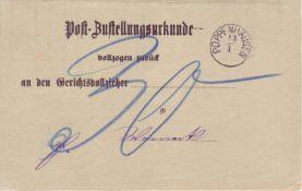 Altdeutschland Bayern 1880, Vorphilatelie. Poppenhausen, seltener Zierstempel auf einer Post -