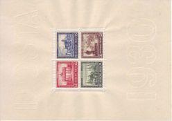 Deutsches Reich 1930, Block 1, geprüft Schlegel. Postfrisch. German Reich 1930, Block 1, checked