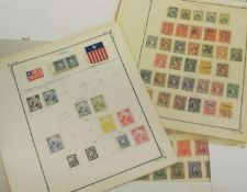 1860/1900, Sammlung von Liberia, Guatemala und Honduras, ordentlich auf Album-Seiten. Bitte