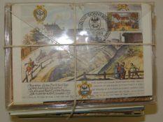 Ca. 250 von der Post verausgabte Postmuseumskarten (wenige als Maximumkarte) 500 Jahre Post