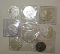Lot BRD Münzen, dabei 6x 10 DM, 1x 10 Euro, sowie 1x 5 DM. Unterschiedliche Erhaltung. Lot BRD
