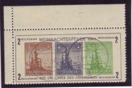 SBZ Thüringen 1945, Block1 t Type 1. Gestempelt. SBZ Thuringia 1945, Block 1 t Type 1. Stamped.