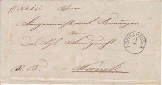 Altdeutschland Bayern 1881, Vorphilatelie. Poppenhausen, seltener Zierstempel glasklar auf Brief