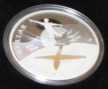 Canada Dollar von 2009, 100 Jahre Flug in Canada, Proof Silver Dollar im Etui Canada Dollar 2009,
