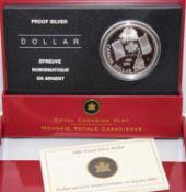 Canada Dollar von 2005, Nationalflagge 40. Jahrestag, Proof Silver Dollar. Canada Dollar 2005,