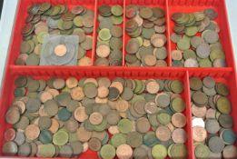 Lot alte Pfennigstücke BRD von 1 bis 10 Pfennige in 1 Lindner Münzbox.