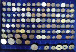 Großes Lot alte Münzen aus aller Welt aus dem 17. bis 19. Jahrhundert. Über 100 Stück. Darunter u.