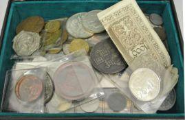 Lot Münzen und Medaillen, dabei auch ältere Ausführungen. Bitte besichtigen.