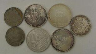 Lot von Münzen BRD, dabei 4x 10 DM, 1x 5 DM, sowie 2x 2 DM Lot of coins BRD, as well 4x 10 DM, 1x