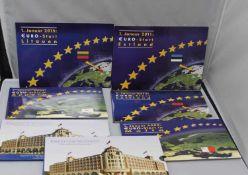 Lot von 7 Euro Startset mit letzten Kursmünzsätze des Landes. Folgende Länder: Slowenien 2009,