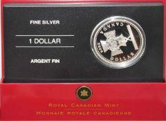 Canada Dollar 2006, Victoriakreuz, Proof Silver Dollar im Etui Canada Dollar 2006, Victoria Cross,