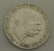 Österreich-Ungarn, 5 Kronen 1907, Erhalltung: vorzüglich (Randfehler)