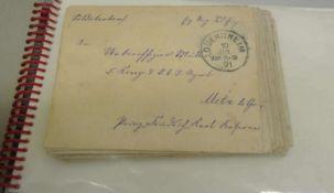 kleine Sammelmappe mit Briefe und Karten. Nur Dürkheim und Bad Dürkheim betreffend. Schöne